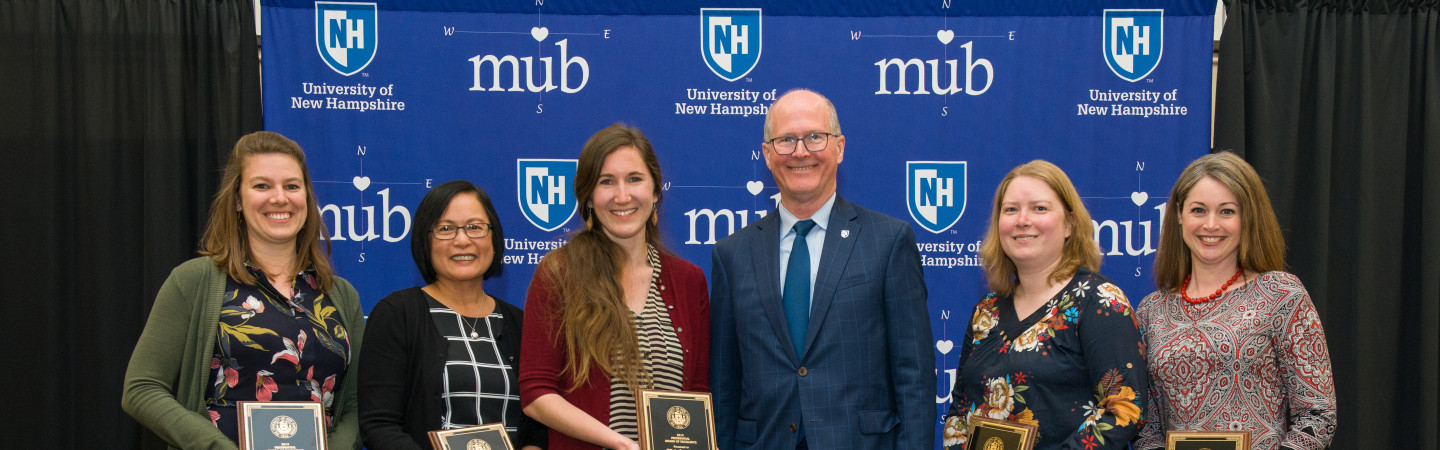 2019 Presidential Award of Excellence recipients with UNH President Dean