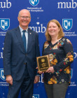 President Dean with Janine Wilks - 2019 PAE Award Recipient