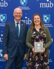 President Dean with Kristen Butterfield - 2019 PAE Award Recipient