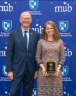 President Dean with Laura Simard - 2019 PAE Award Recipient