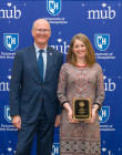 President Dean with Laura Simard - 2019 PAE Award Recipient