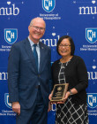 President Dean with Leila Paje-Manalo - 2019 PAE Award Recipient