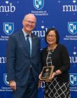 President Dean with Leila Paje-Manalo - 2019 PAE Award Recipient