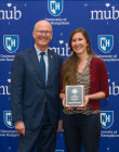 President Dean with Olivia Saunders - 2019 PAE Award Recipient
