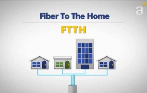 Graphic depiction of Antel FTTH network