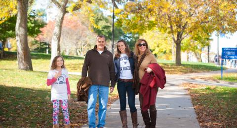 Family on UNH Campus