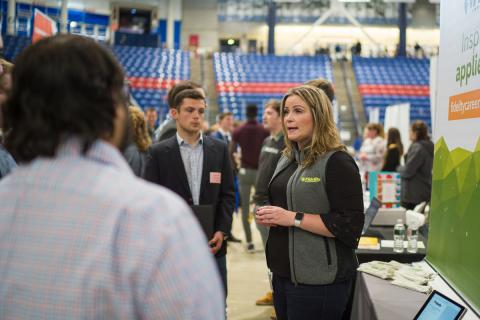 Employer at career fair