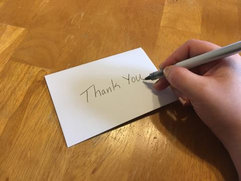 Career and Professional Success's second thank you note template for students to download
