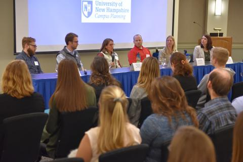 Natural Resources and the Environment Industry Panel, where panelists in the industry speak to UNH students about careers