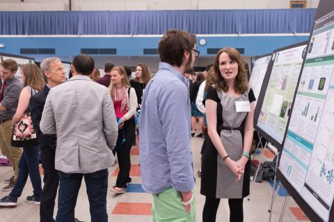 Students presenting at UNH's Under Gradate Research Conference