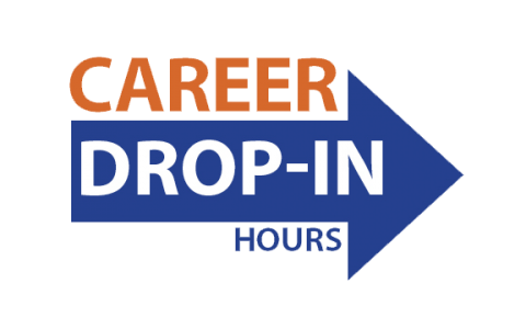 Career Drop-in hours logo for decoration only