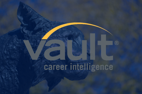 "Logo of Vault - UNH's resource containing more than 80 career guides and employer profiles, continually updated ""insider"" information on over 3,000 companies"