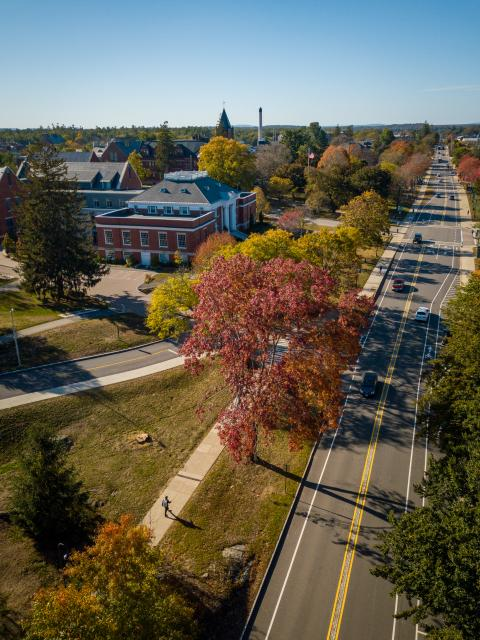Image of UNH's Durham campus where the Career and Internship Fair is hosted