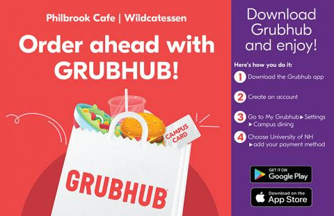 Order Ahead with GrubHub Instructional Image