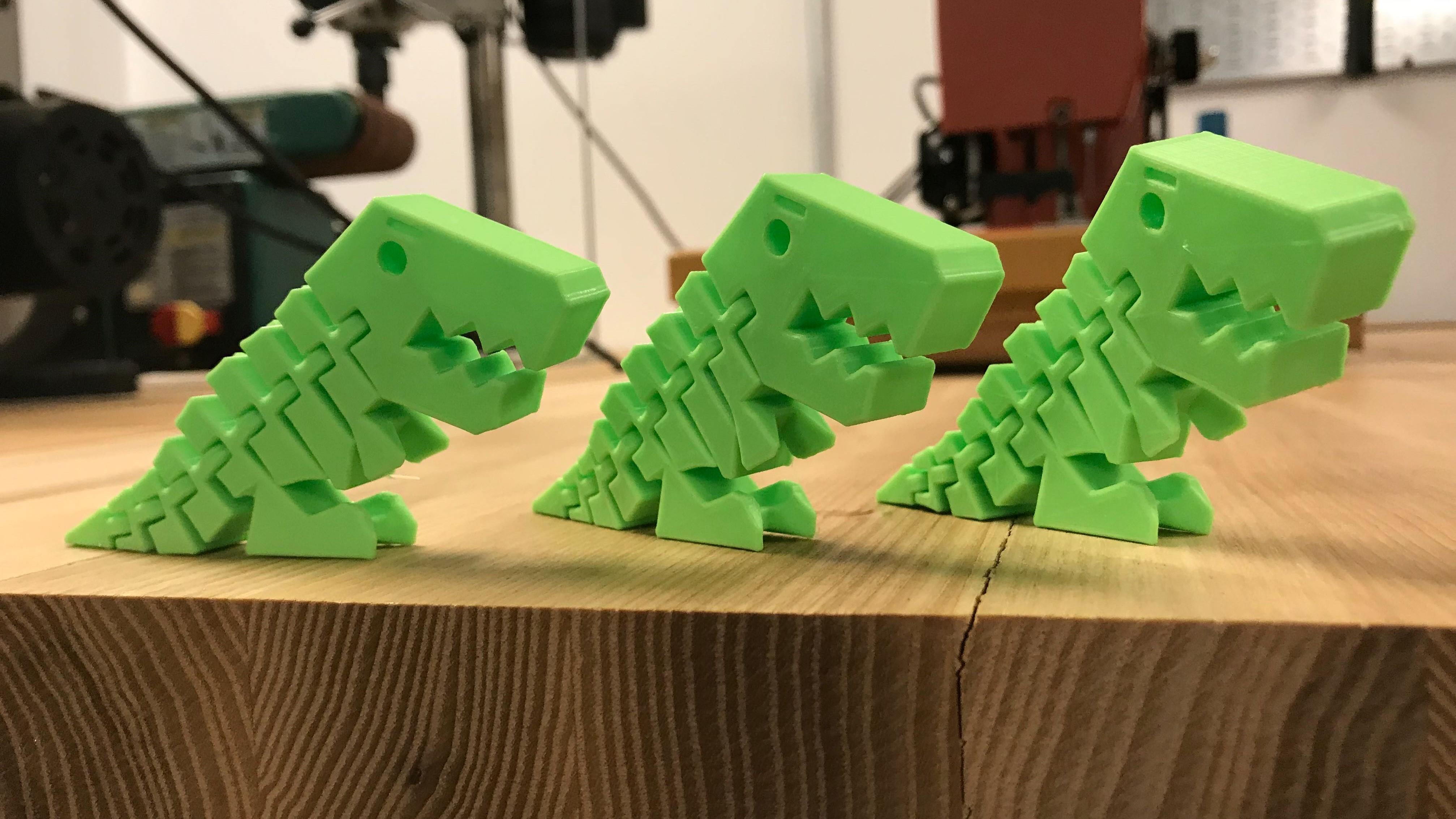 3D printed Flexi Rexie