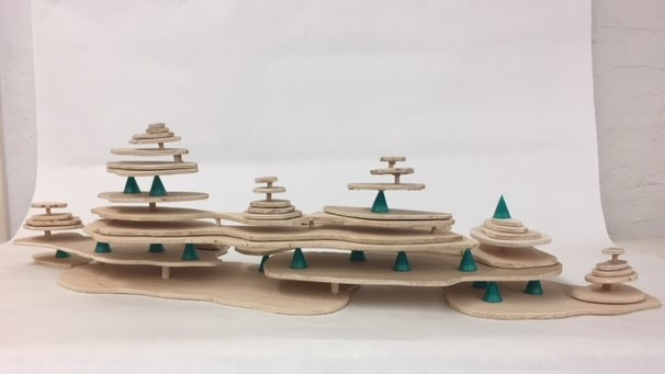 Kinetic sculptures made on the 3D printer and laser cutter