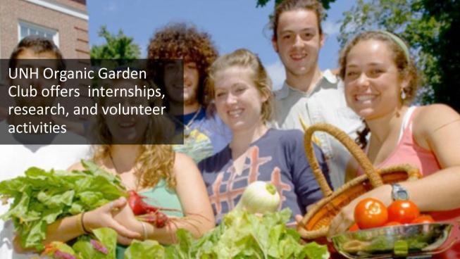 Organic Garden Club students