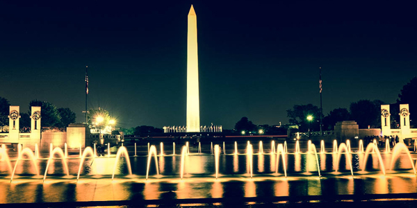 Night photo of Washington, D.C.