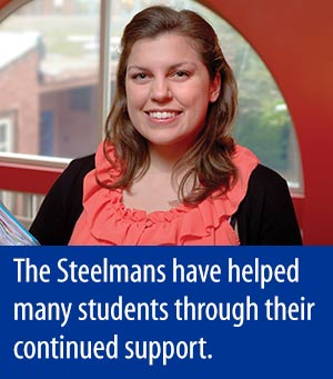 Kerrin O'Leary - The Steelmans have helped many students through their continued support.