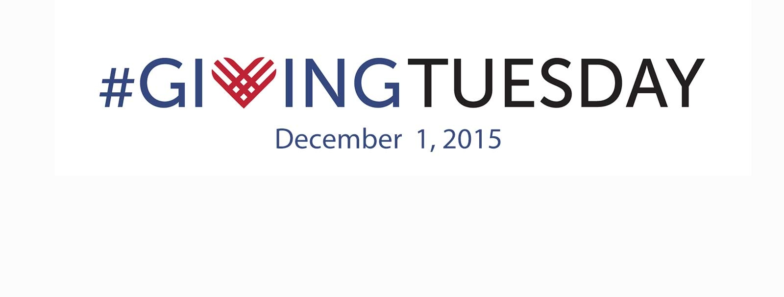 Giving Tuesday is Dec. 1, 2015