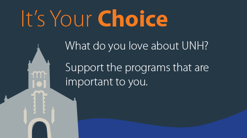 Graphic with text: It's your choice. Support the gifts that mean the most to you.