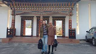 Sameer Honwad with dean of Royal Thimpu College in Bhutan