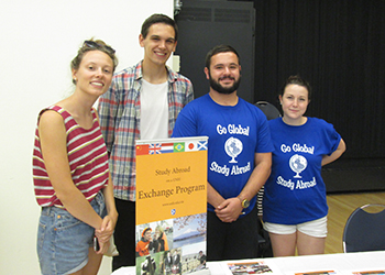 global ambassadors at managed program study abroad fair