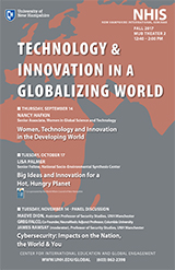 NH Int'l Seminar fall 2017 poster on Technology & Innovation in a Globalizing World