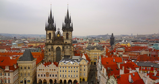 view of Prague's Old Town