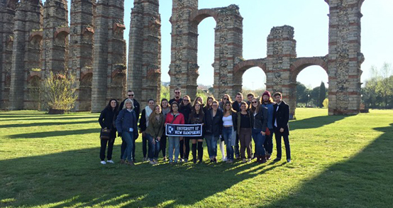 UNH Tale by Charlotte Harris '18 with classmates in Granada, Spain