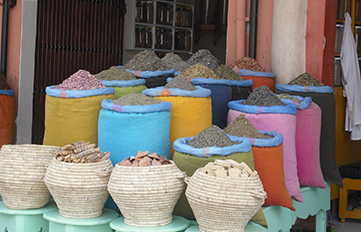 photo of spices in Moroccan market