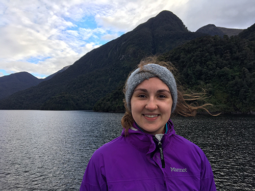 Kaylee Lanczycki '20 in New Zealand