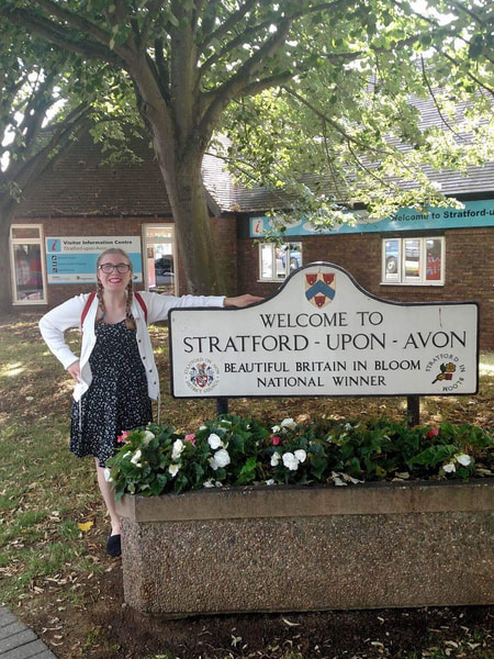 Terri Duhamel '18 at Stratford-Upon-Avon in England