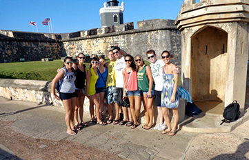 UNH students in cruise ship mgt. course travelled to San Juan, Puerto Rico