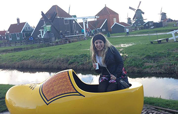 Christine DiGirolamo '15 in the Netherlands