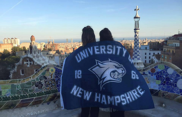 UNH students in Barcelona, Italy