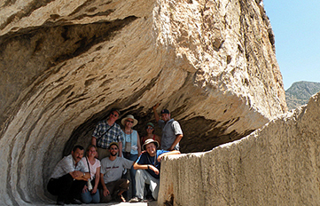 Prof. McMahon (back row, left) and crew in Cappadocia, Turkey