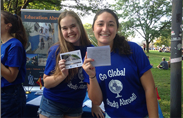 Photo of two global ambassadors, students who have studied abroad