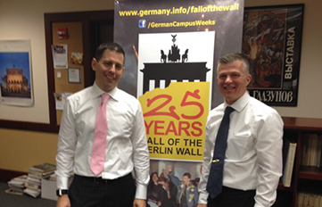 (l. to r.) Colonel Scott Dullea '89 and Foreign Service Deputy Head Brian Greaney