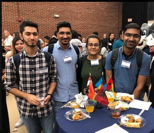 Students at International Community Reception