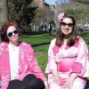 Emily Haley (l.), and classmate Veronica Chambers (r.), a Japanese/IA major, at Japan Fest in Boston, MA