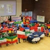 Participants in International Education Week 2017 holding international flags