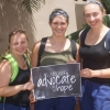 (l. to r.) Hannah Morin-Roy, Marisa Scampoli and Jordan Lavallee with Global Partners in Hope in Togo
