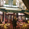 Jofrdan Lachance in front of Les Deux Magots restaurant in France