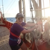 Emily Brooks '20 aboard SSV Corwith Cramer with Sea Semester