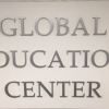 """Global Education Center"" sign inside Conant Hall"