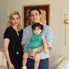 Ali Nassiri pictured here with his wife Elli and daughter LaraIn