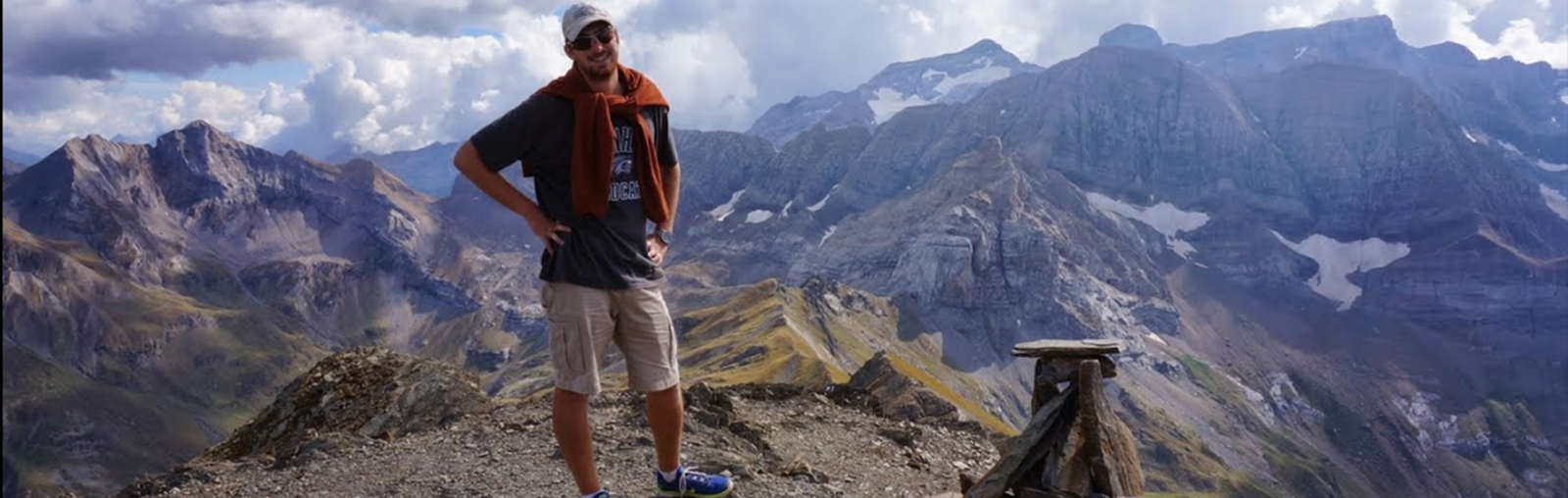 UNH student Lehoux hiking in France