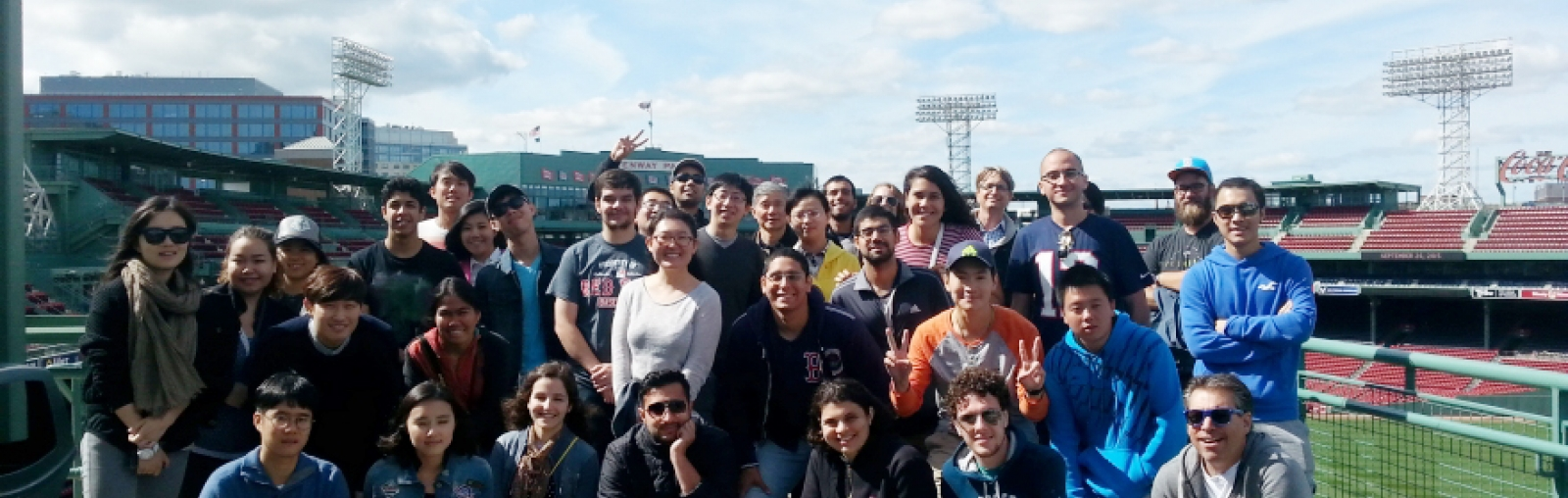 UNH international students at Fenway Park