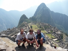 Photo of students at Machu Picchu